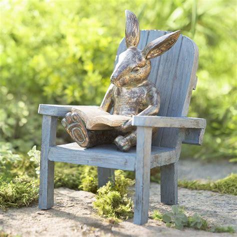 bunny garden statue reading rabbit garden statue the green