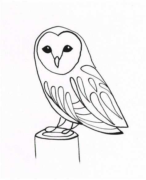 simple owl drawings black and white line drawings of owls simple owl drawing