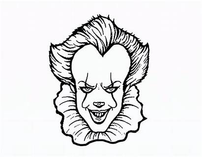 Pennywise Draw Easy Drawing Step Coloring Drawings