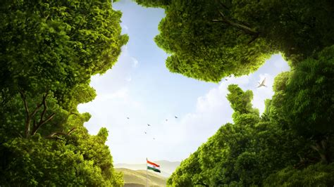 Indian Image by Wallpaper India Flag Of India Trees Cgi Hd Creative