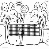 Volleyball Coloring Pages Beach Printable Print Cool2bkids sketch template
