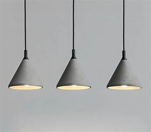 Concrete pendant light such