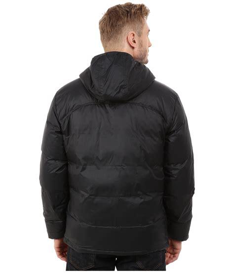 lacoste light weight packable  jacket  black  men lyst