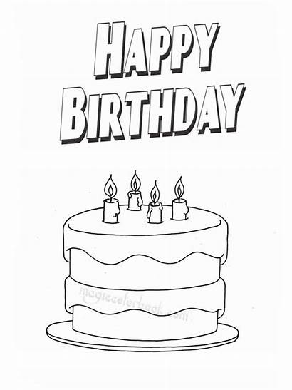 Coloring Birthday Happy Pages Printable Holiday