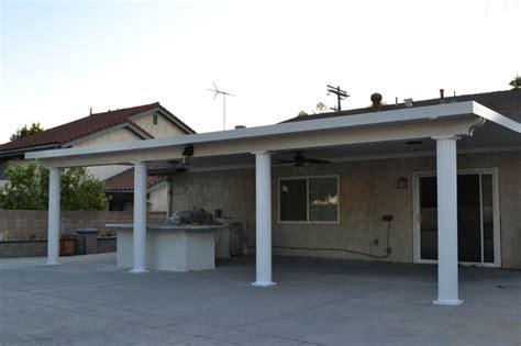 solid aluminum patio cover los angeles traditional