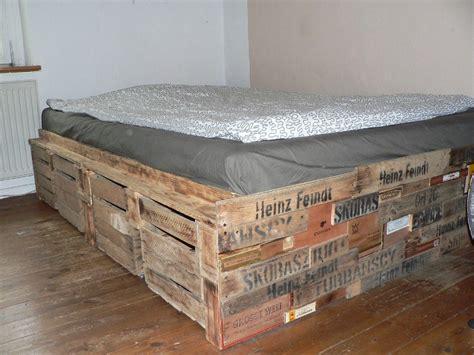 Bett Aus Weinkisten gebraucht palettenbett palettenm 246 bel bett weinkisten in