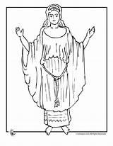Greek Coloring Mythology Pandora Goddess Colouring Popular sketch template