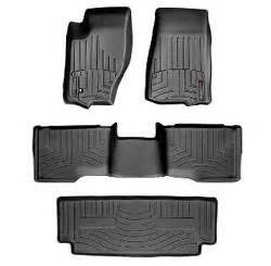 06 jeep commander floor mats weathertech digitalfit all weather mats black 3rd row