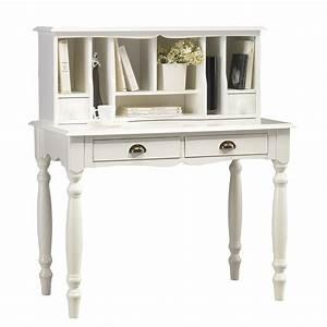 Bureau Secrtaire Blanc De Style Anglais Maison Et Styles