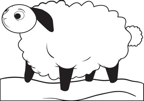 Free, Printable Cartoon Lamb Coloring Page For Kids #2