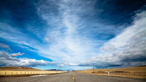 wallpaper road  hd wallpaper clouds day sky dream nature