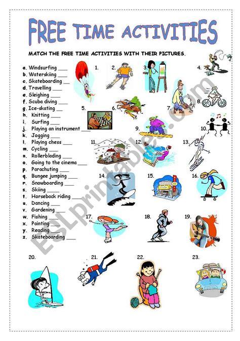 time activities esl worksheet  guveri