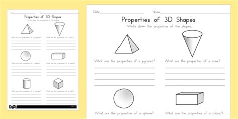 year 1 properties of shapes worksheet worksheets australia shapes