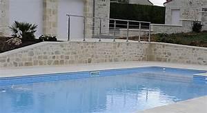 Steine Für Poolumrandung : pool landschaft mediterrane mauerverkleidung ~ Frokenaadalensverden.com Haus und Dekorationen