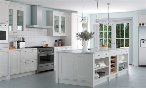 falcon painted light grey kitchen