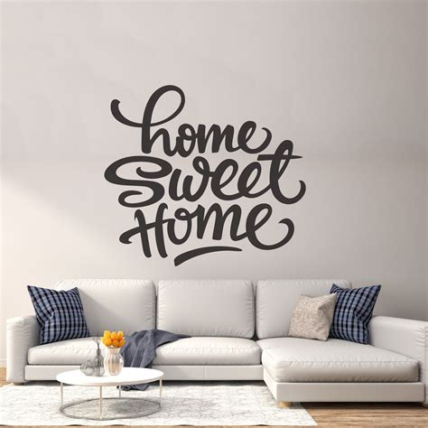 Stunning Living Room Wall Stickers by Sweet Home Wall Decor Vinyl Sticker Decal Livingroom