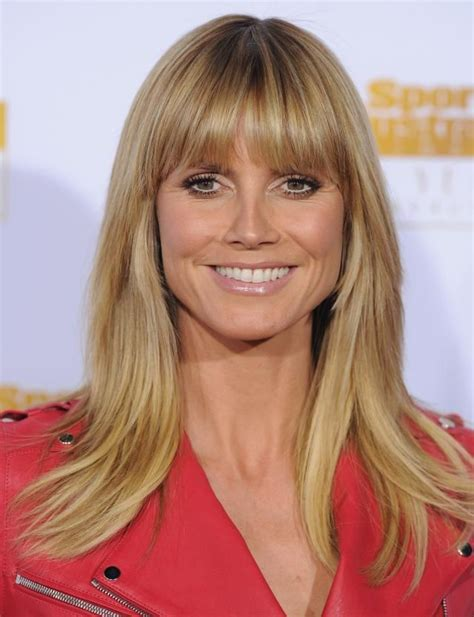 blunt cut bangs 17 hairstyles we love heidi klum cut