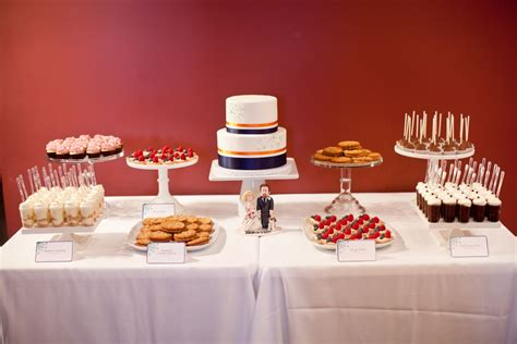 Wedding Dessert Table Set Up For Susan & Chris