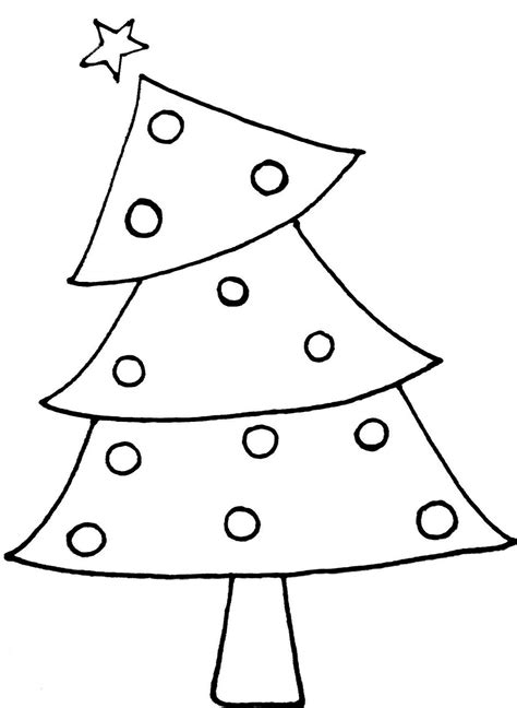 christmas tree clip art black and white pictures to pin on