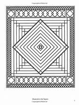 Coloring Quilt Pages Books Patchwork Traditional Pattern Dover Designs Geometric Adult Quilting Creative Amazon sketch template