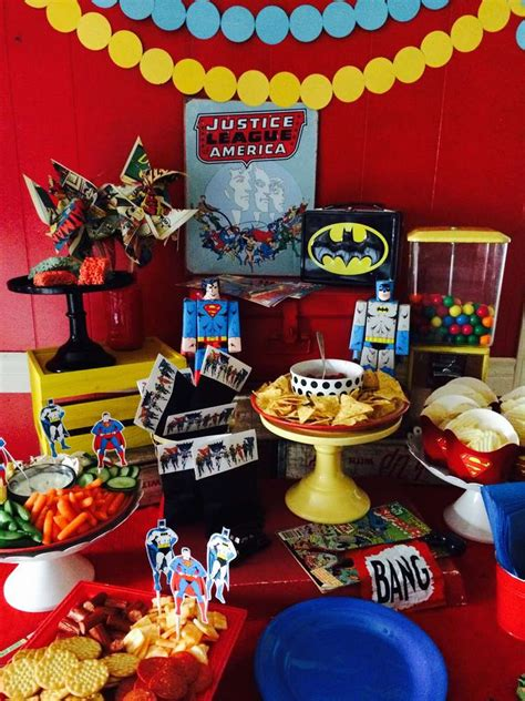 Justice Leaguesuperhero Birthday Party Ideas  Photo 6 Of