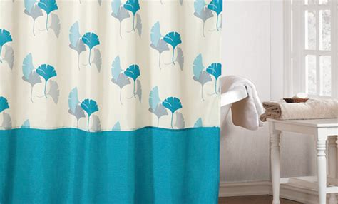 faux silk or waffle textured shower curtains
