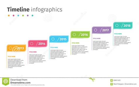 Desarrollo Web Templat by Business Timeline With Step Flags Infographics Corporate