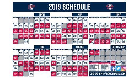 Sparks campus 3235 south eufaula avenue, eufaula, al 36027 call: Rome Braves Release 2019 Schedule | Braves