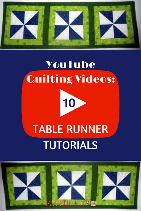 youtube quilting   table runner tutorials favequiltscom