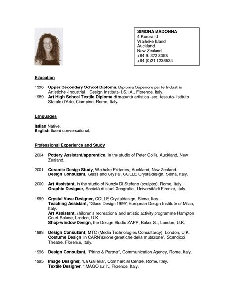 Resume Outline Sle by Cv Template Nz For Students Planner Template Free