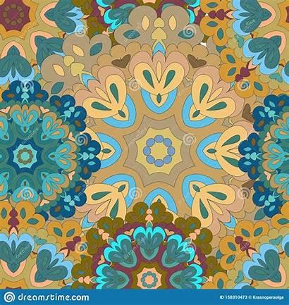 Pattern Colorful Mandala Seamless Fills Textures Surface