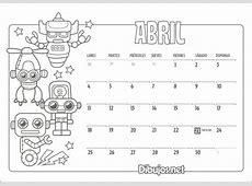 Calendarios para Pintar 2018 Calendario 2018