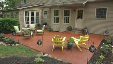 transform  concrete patio video diy