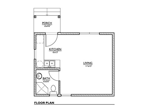 one bedroom house plans modern style house plan 1 beds 1 00 baths 320 sq ft plan 16556 | w1024