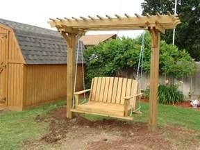 pergola swings and bower swing carpentry plans arbor plans