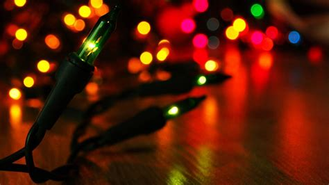 Christmas Lights Desktop Wallpapers  Wallpaper Cave