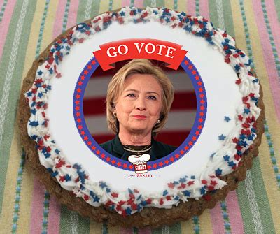 hillary clinton  vote giant cookie cake