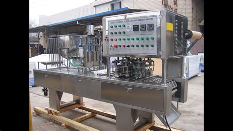lanes automatic cups filling sealing machine fully auto cup filler sealer juice jelly yogurt