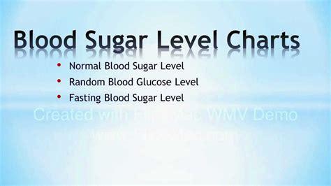 3 key blood sugar level charts