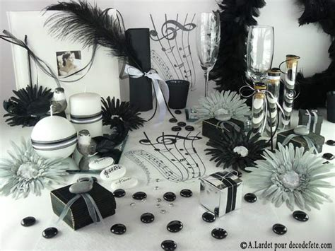 deco fete noir et blanc d 233 co de table