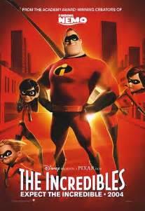 Pixar The Incredibles 2004 Movie