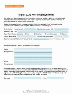Credit Card Payment Authorization Form Template 41 Credit Card Authorization Forms Templates Ready To Use