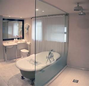 salle de bain avec douche italienne naturelle et relaxante With salle de bain avec baignoire et douche italienne