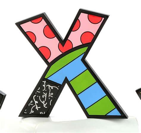 Britto Letter X  Pop Art Miami