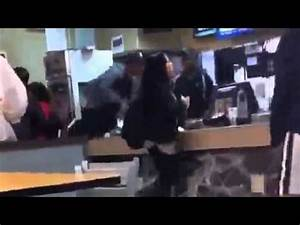 Mcdonalds employee beats up a customer!!!! - YouTube
