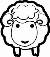 Coloring Sheep Face Lamb Printable Pages Sizable Professional Sheet sketch template