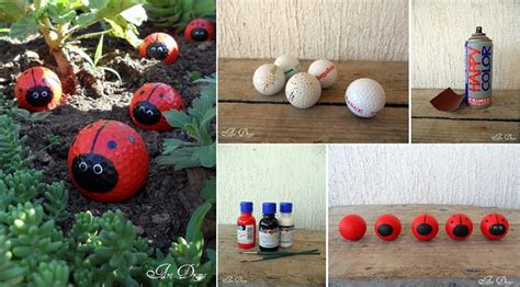 diy cute golf balls ladybugs home design garden