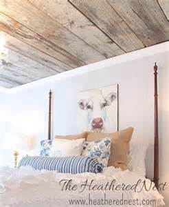 hometalk how to install a barn board ceiling