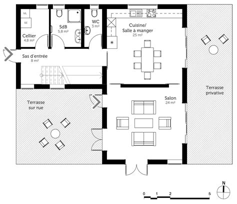 plan de maison a etage moderne plan maison moderne 224 233 tage ooreka
