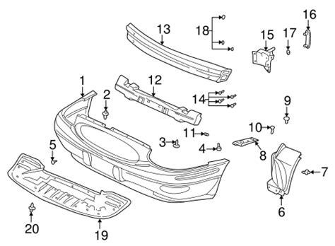 Buick Oem Parts by Oem Bumper Components Front For 2004 Buick Lesabre
